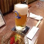まんぎょく - 生ビール 550円