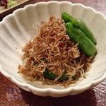 まんぎょく - ジャコと青唐の炒り煮   660円