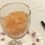 シェ・ソーマ - りんごのグラニテ。