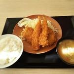 かつや - 海老ヒレメンチカツ定食853円