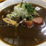 ヤマシロ - 黒辛醤油ラーメン(750円)