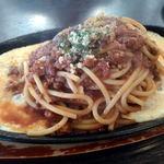 神野喫茶店 × JINNO COFFEE - 鉄板スパゲティ:ミートソース