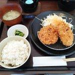 58973420 - 牛メンチカツ定食(2016.11)