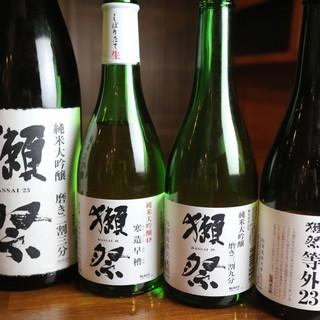豊富な日本酒