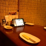 高蔵寺ダイニング おばんどり - 2階からもiPadを使ってお気軽にご注文いただけます。