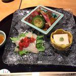 つる家 花陽 - ごま豆腐・カルパッチョ・揚げ浸し 15.11月
