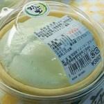 58976657 - 福岡県朝倉郡筑前町の特産は豆です。フクユタカの青大豆で作った枝豆豆腐です。                       黒豆豆腐もあります。