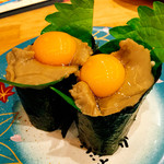 回転寿司 魚河岸 - かにみそ月見