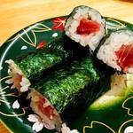 回転寿司 魚河岸 - 鉄火巻き
