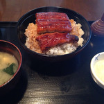 食事処 桜の木 - 鰻丼1350円 ライス大盛り。