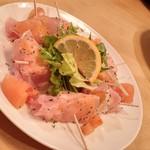 居酒屋 天うま - 柿と生ハムのサラダ