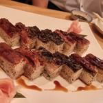 居酒屋 天うま - 鰻の炙り押し寿司