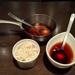 竃 円山 - 山わさびと赤ワインソース