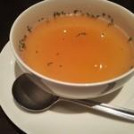 竃 円山 - スープ