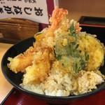 天丼専門店 てんき - 天丼(並) 味噌汁付き    500円