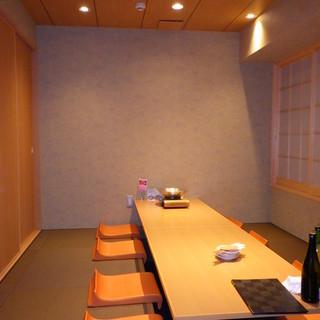 【完全個室】各種ご宴会・接待におすすめの個室もご用意。