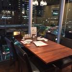 A・DINING - A・DINING(エーダイニング)(東京都港区新橋1-4-5 G10ビル 5F)新幹線の見える席