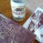 列車レストラン・清流 - やまと豚弁当   手拭い付き\(^_^)/ビールは自販機。