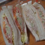 サンドイッチ工房 サンドリア - ハムサラダ、明太子サラダ