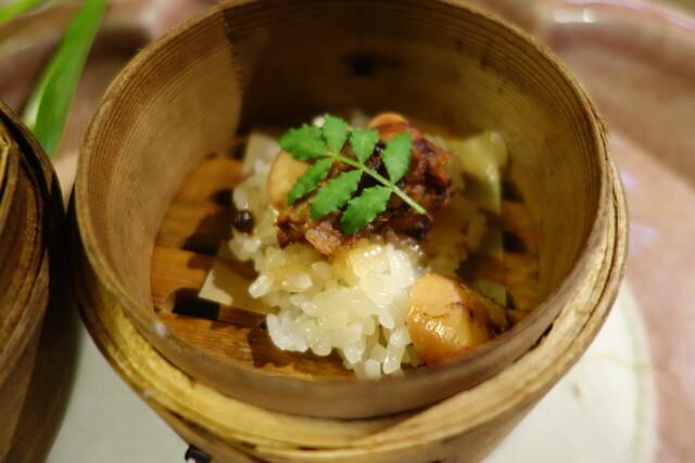 天ぷら 松 - 飯蒸し