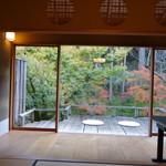 美山荘 - こんな景色を見ながら