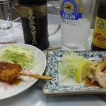多田屋 - 串カツとミノ塩焼き、もちろんホッピーで流します!