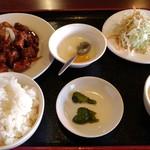 福運来 - 黒酢鶏ランチ