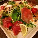 dining IOR?I - 生ハムと十勝マッシュと水菜のサラダ