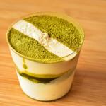 ポレポレカフェ - 小野茶とホワイトチョコのムース