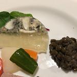 ワインレストラン ドミナス - ふぐのテリーヌとレンズ豆とピクルス