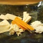 あおば - ボージョレーの時期だけのチーズ盛り合わせ