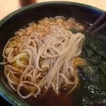 ゆで太郎 - ミニ豚丼セットの蕎麦の麺
