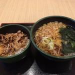 ゆで太郎 - ミニ豚丼セット@500円