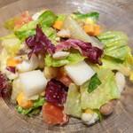 デリリウムカフェ ギンザ - 門崎熟成肉のすじ肉を混ぜたチョップドサラダ(ハーフ)