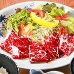 旬味和膳 季乃庄 - 牛ハラミセット 1200円
