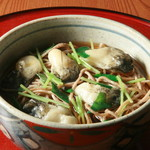 旬味和膳 季乃庄 - 牡蠣そば 950円