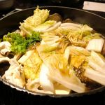 花大根 - その後は野菜を投入して、お肉の合間合間に挟みながら楽しみました。