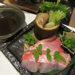 ラグジュアリー和ホテル風の薫 - 夕食・・・金目鯛の湯引き