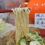 中華そば 高安 - スジラーメンの麺