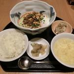 芝蘭 - 汁なし担々麺セット1200円