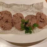 トラットリアボッソ - 房総ハーブ鶏レバーのクロスティーニ500円