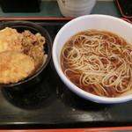 小諸そば - 秋野菜天丼セット530円