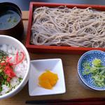 59017406 - 江戸切り蕎麦と鶏そぼろ丼膳