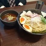 麺や真登 - 濃厚つけ麺(半熟煮玉子入り)(880円)