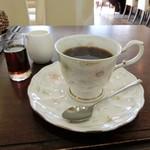 珈琲屋san - 上品な図柄、ナルミのボーンチャイナのカップ&ソーサー