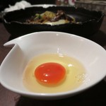 鉄板焼 Mangetsu - すきやきそば用のたまご