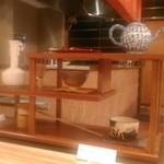 茶屋 青柳 - [内観] 店内 カウンター上 抹茶セット