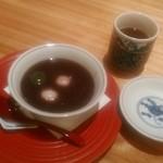 茶屋 青柳 - [料理] 白玉ぜんざい (蓋を取った状態) 全景♪w