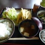 彩湖庵 - ワカサギの天ぷら定食。