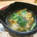 59022587 - 岩手県産松茸と5種類の茸 スッポンのスープ